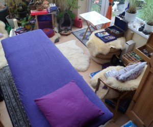 Cluttered therapy room